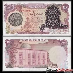 IRAN - Billet de 100 Rials - Avec Surcharge sur portrait du Shah - 1979 P118b