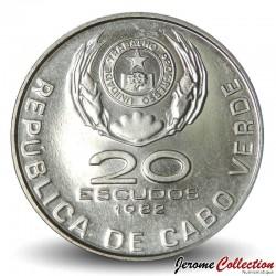 CAP VERT - PIECE de 20 ESCUDOS - Domingos Ramos - 1982