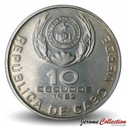 CAP VERT - PIECE de 10 ESCUDOS - Eduardo Mondlane - 1982