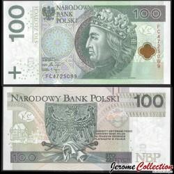 POLOGNE - Billet de 100 Złotych - Ladislas II Jagellon - 2018 P186b