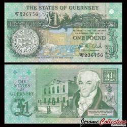GUERNESEY - Billet de 1 Pound - Daniel de Lisle Brock - 1996 / 2009 P52c