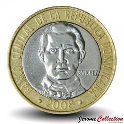 REPUBLIQUE DOMINICAINE - PIECE de 5 Pesos - Francisco Del Rosario Sánchez - 2008