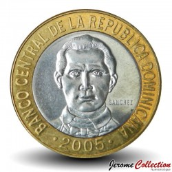 REPUBLIQUE DOMINICAINE - PIECE de 5 Pesos - Francisco Del Rosario Sánchez - 2005