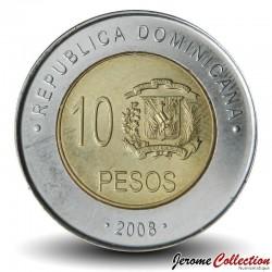 REPUBLIQUE DOMINICAINE - PIECE de 10 Pesos - Matías Ramón Mella - 2008