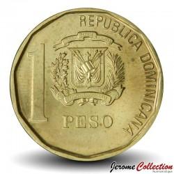 REPUBLIQUE DOMINICAINE - PIECE de 1 Peso - Juan Pablo Duarte y Diez - 2008