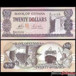 GUYANA - Billet de 20 DOLLARS - Chutes de Kaieteur - 2006