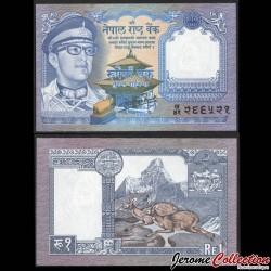 NEPAL - Billet de 2 Roupies - Léopard - 1985 P22c