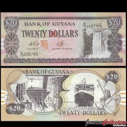 GUYANA - Billet de 20 DOLLARS - Chutes de Kaieteur - 2009