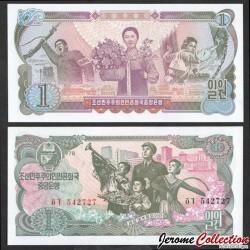 COREE DU NORD - Billet de 1 Won - 1978 P18a