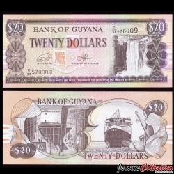 GUYANA - Billet de 20 DOLLARS - Chutes de Kaieteur - 2016