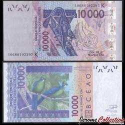 SENEGAL - Billet de 10000 Francs - Oiseaux tauroco macrorhynchus - 2010 P718Ki