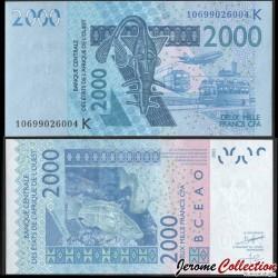SENEGAL - Billet de 2000 Francs - Mérou - 2010 P716Ki