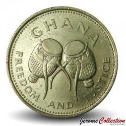 GHANA - PIECE de 500 Cedis - Tambours - 1998