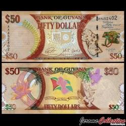GUYANA - Billet de 50 DOLLARS - Cinquante ans d'indépendance du Guyana (1966-2016) - 2016