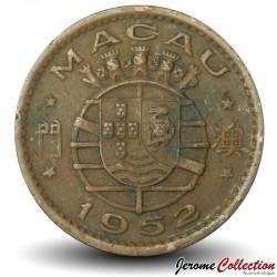 MACAO - PIECE de 10 Avos - 1952 Km#2