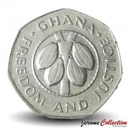 GHANA - PIECE de 10 Cedis - Fèves de cacao - 1991 Km#29