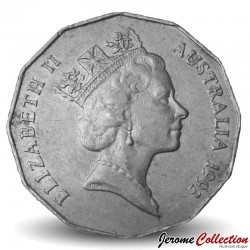 AUSTRALIE - PIECE de 50 Cents - Elizabeth II - 3ème effigie - 1993 Km#83