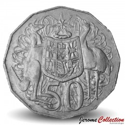 AUSTRALIE - PIECE de 50 Cents - Elizabeth II - 3ème effigie - 1993