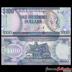 GUYANA - Billet de 100 DOLLARS - 2016