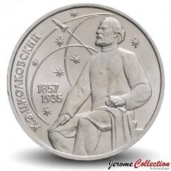 Russie / Union Soviétique / CCCP / URSS - PIECE de 1 Rouble - Tsiolkovsky - B - 1987 Y#205