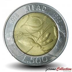 ITALIE - PIECE de 500 Lires - 20 ans de l'IFAD - 1998 Km#193