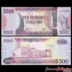 GUYANA - Billet de 500 DOLLARS - 2011