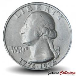 ETATS UNIS / USA - PIECE de 25 Cents - Bicentenaire de l'indépendance américaine - P - 1976