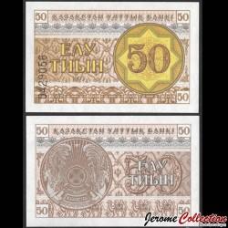 KAZAKHSTAN - Billet de 50 Tiyn - 1993 P6a
