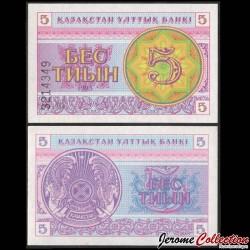 KAZAKHSTAN - Billet de 5 Tiyn - 1993 P3a