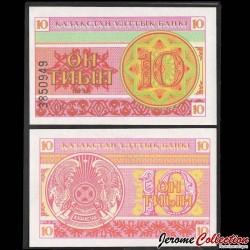 KAZAKHSTAN - Billet de 10 Tiyn - 1993 P4a