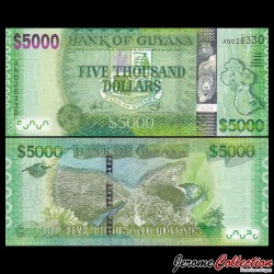 GUYANA - Billet de 5000 DOLLARS - 2011