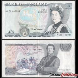 ROYAUME UNI - Billet de 5 Pounds - Duc de Wellington - 1987 P378e