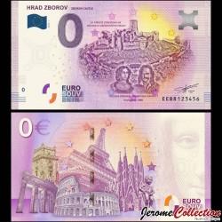 BILLET TOURISTIQUE - ZERO 0 EURO - SLOVAQUIE - HRAD ZBOROV - 2019 EEBR - 2019-1