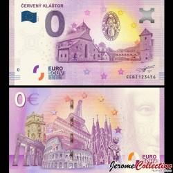 BILLET TOURISTIQUE - ZERO 0 EURO - SLOVAQUIE - CERVENY KLASTOR - 2019 EEBZ - 2019-1