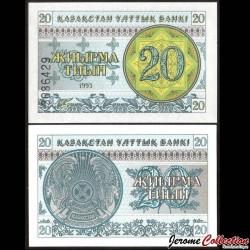 KAZAKHSTAN - Billet de 20 Tiyn - 1993 P5a