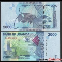OUGANDA - Billet de 2000 Shillings - Poisson - 2021 P50e