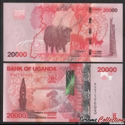 OUGANDA - Billet de 20000 Shillings - Buffle - 2019 P53e