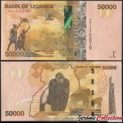 OUGANDA - Billet de 50000 Shillings - Gorille - 2021 P54e
