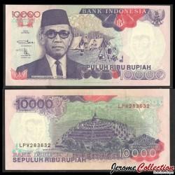 INDONESIE - Billet de 10000 Rupiah - Hamengku Buwono IX - 1992 / 1996 P131e