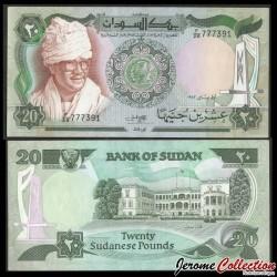SOUDAN - BILLET de 20 Livres Soudanaise - Président Jafar Muhammad an-Numeiri - 1983 P26a