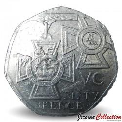 ROYAUME UNI - PIECE de 50 Pence - Victoria Cross - 2006 Km#1057
