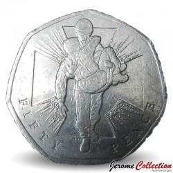 ROYAUME UNI - PIECE de 50 Pence - Action héroïque - 2006 Km#1058