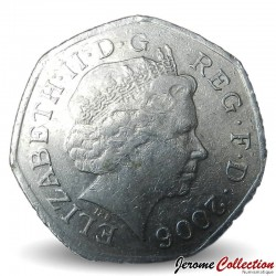 ROYAUME UNI - PIECE de 50 Pence - Action héroïque - 2006
