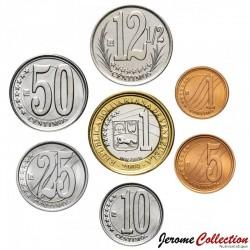VENEZUELA - SET / LOT de 7 PIECES de 1 5 10 12 1/2 25 50 Centimos & Bolivars - 2007 / 2009 Y#87 88 89 90 91 92 93
