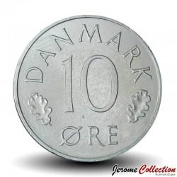 DANEMARK - PIECE de 10 øre - Monogramme de la reine Marguerite II - 1984 Km#860