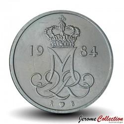 DANEMARK - PIECE de 10 øre - Monogramme de la reine Marguerite II - 1984