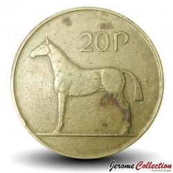 IRLANDE - PIECE de 20 Pence - Un cheval hunters irlandais - 1992 Km#25