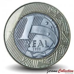 BRESIL - PIECE de 1 Real - 1999 Km#652