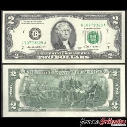 ETATS UNIS / USA - Billet de 2 DOLLARS - G(7) Chicago - 2009 P530Ag