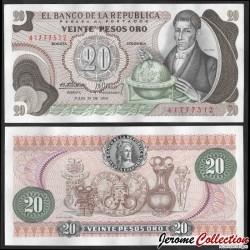 COLOMBIE - Billet de 20 Pesos Oro - Francisco José de Caldas - 1974 P409c1